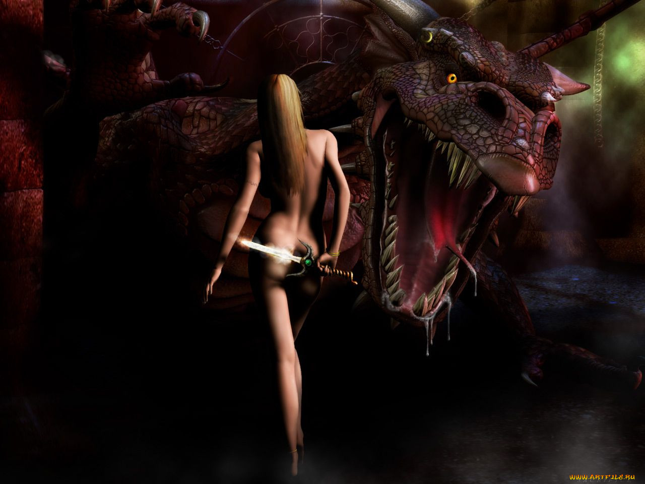 3d monster sin naked photo